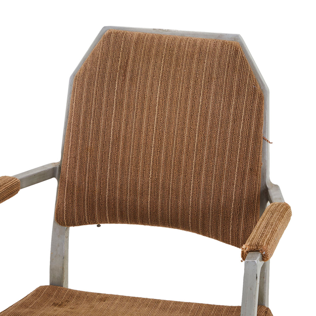 Aluminum Upholstered Arm Chair