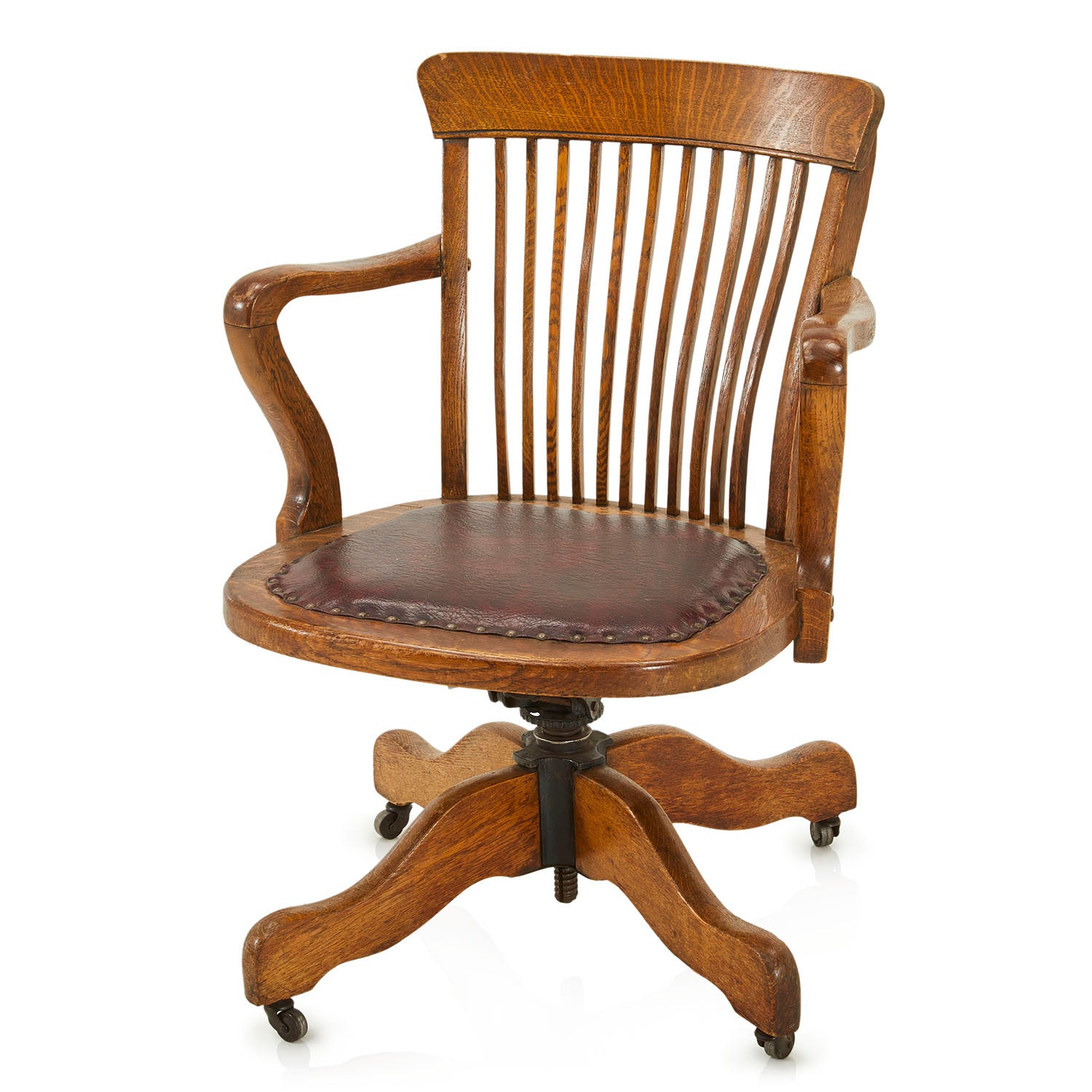 Antique Wood Office Chair Modernica Props