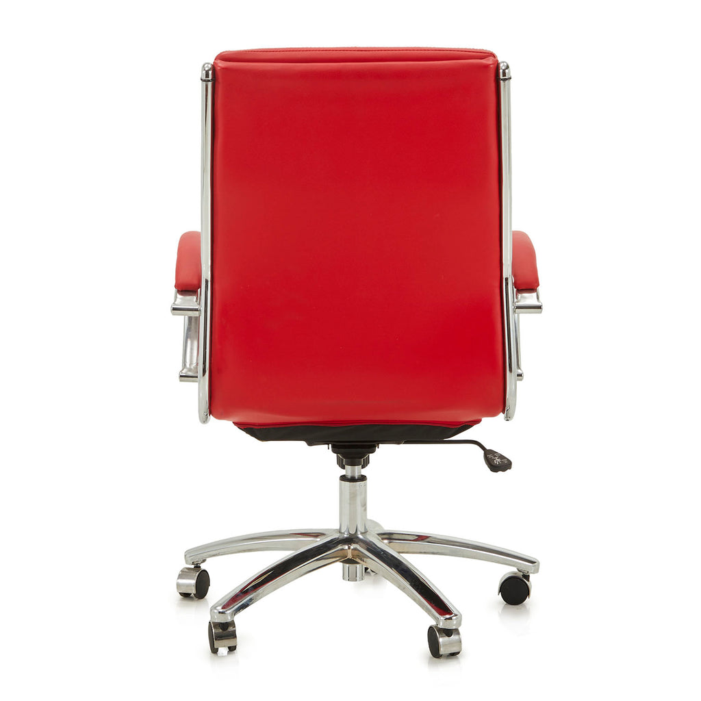 3 Pad Rolling Office Chair - Red