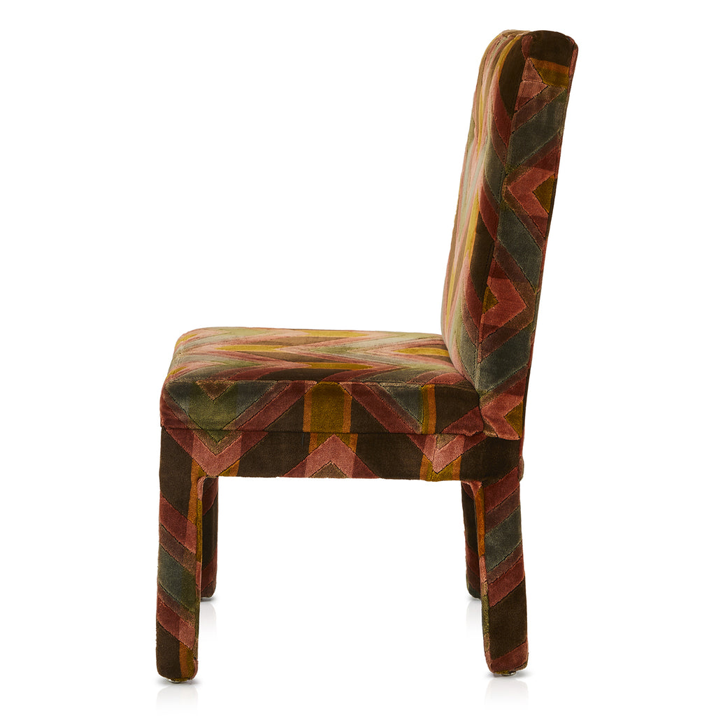 Multi-Colored Vintage Carpet Chair