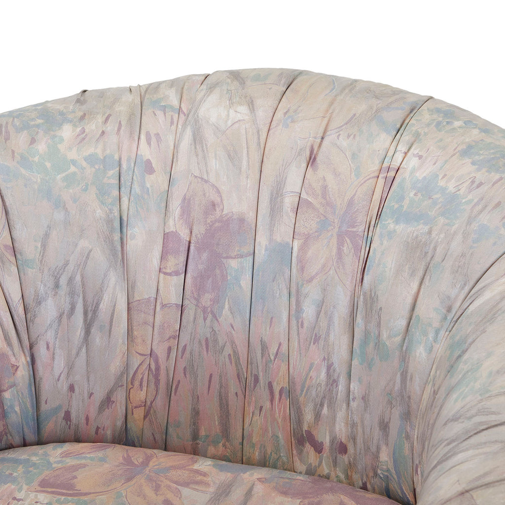 80s Pastel Floral Lounge Chair