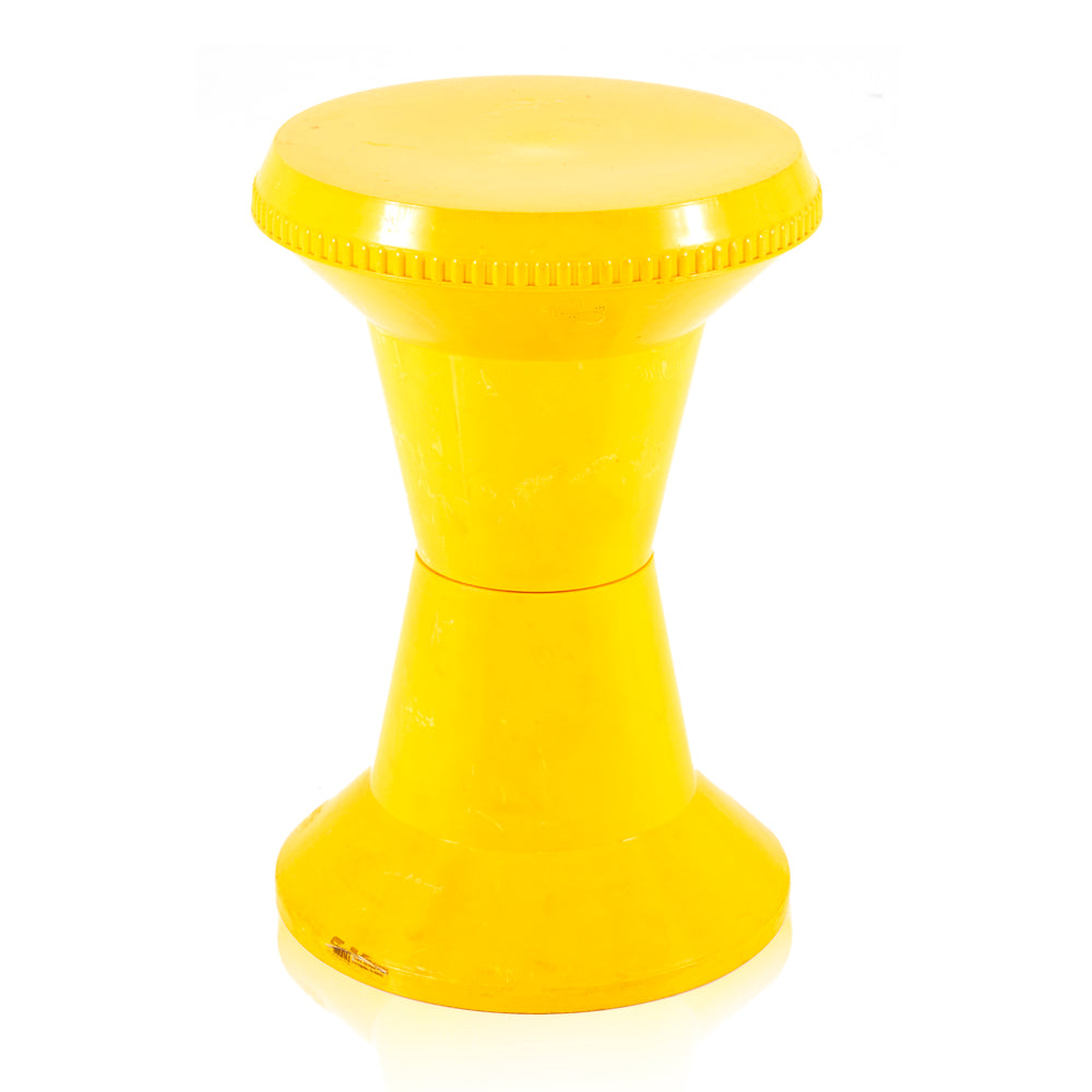 Plastic Spool Pedestal - Yellow