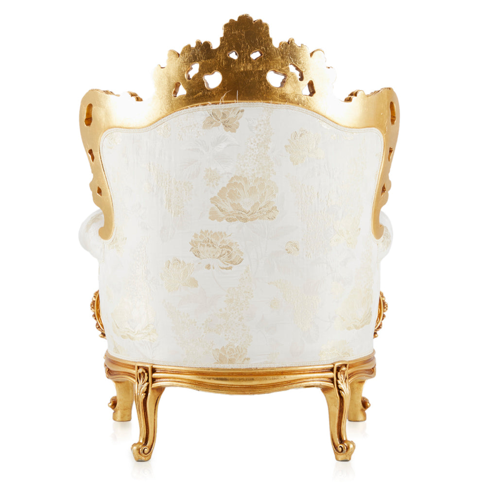 Regal and White Gold Armchair