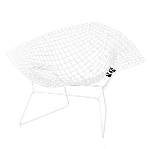 Bertoia Diamond Chair - Extra Wide White