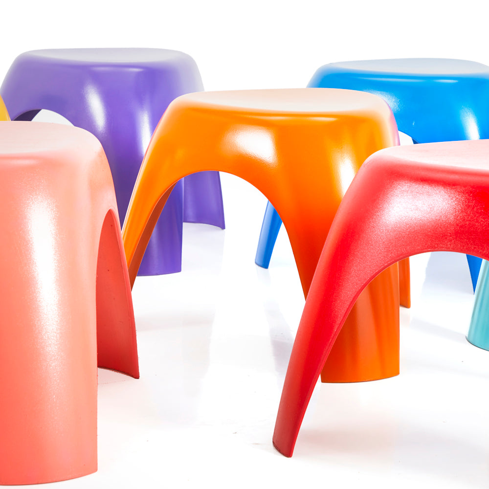 Multi-Colored Children's Classroom Stools