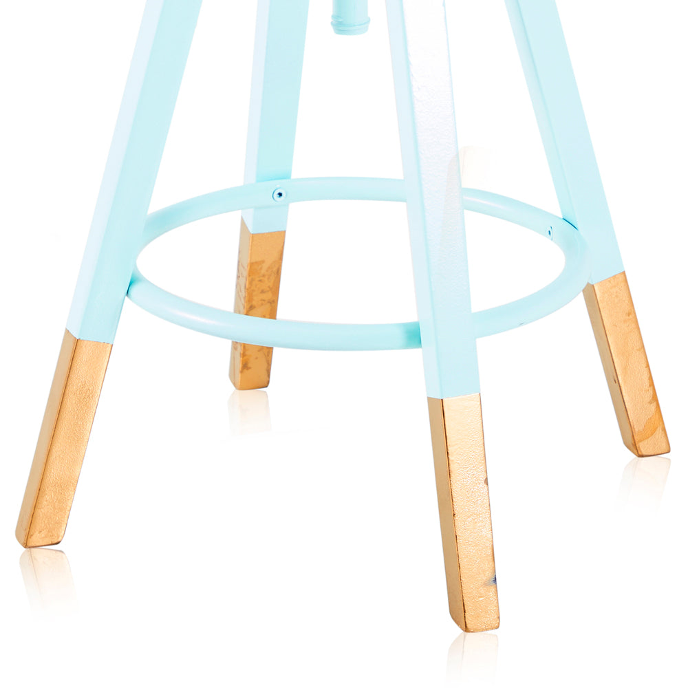 Gold-Dipped Adjustable Work Stool - Teal