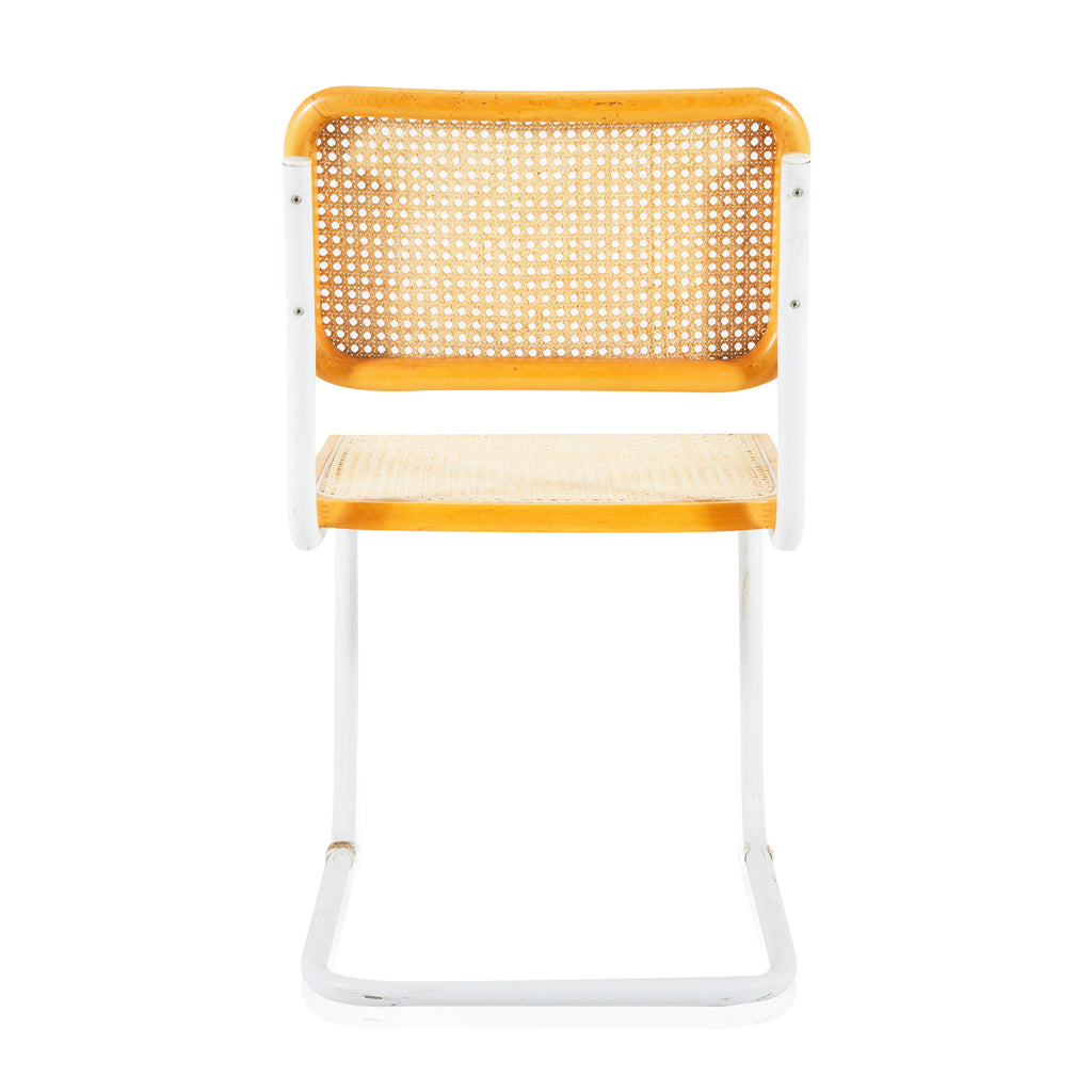 Breuer Dining Side Chair - Natural Wood and Chrome