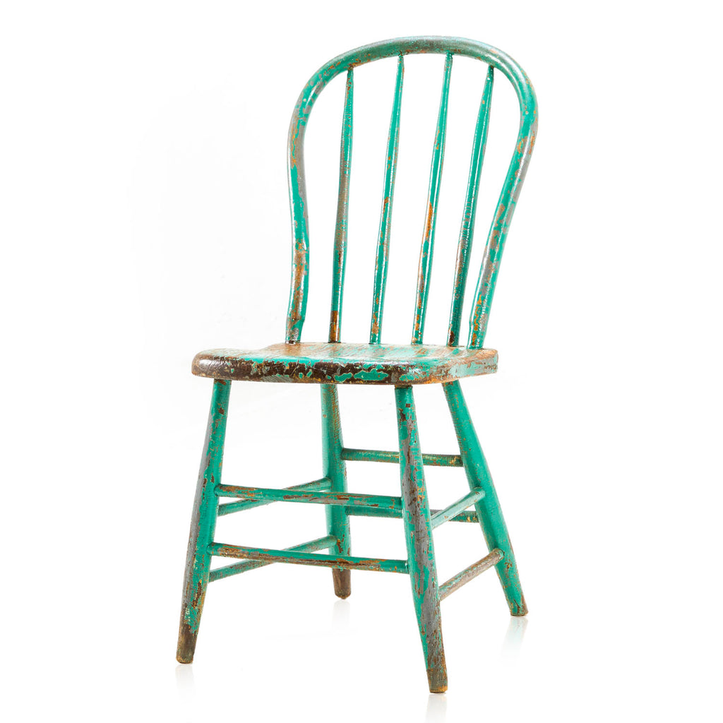 Rustic Green Windsor Chair