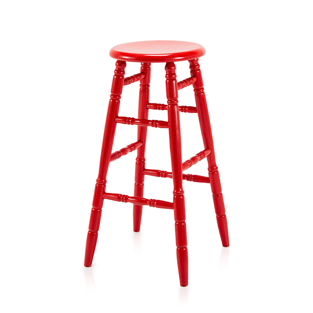 Red Wood Barstool