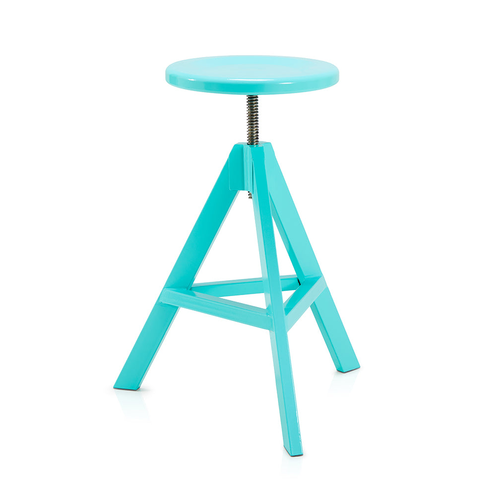 Turquoise Adjustable Tripod Stool
