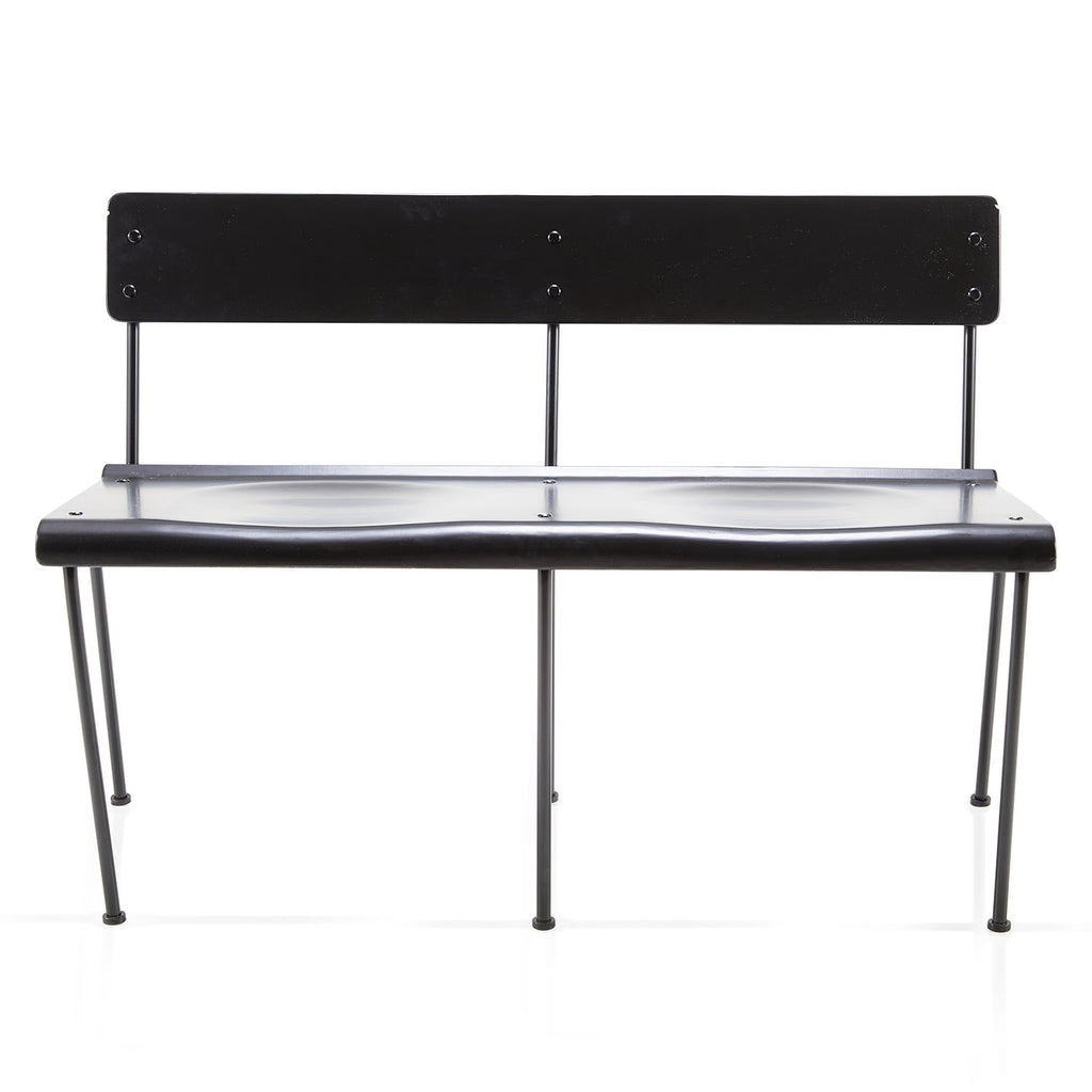 Minimal Black Metal Bench