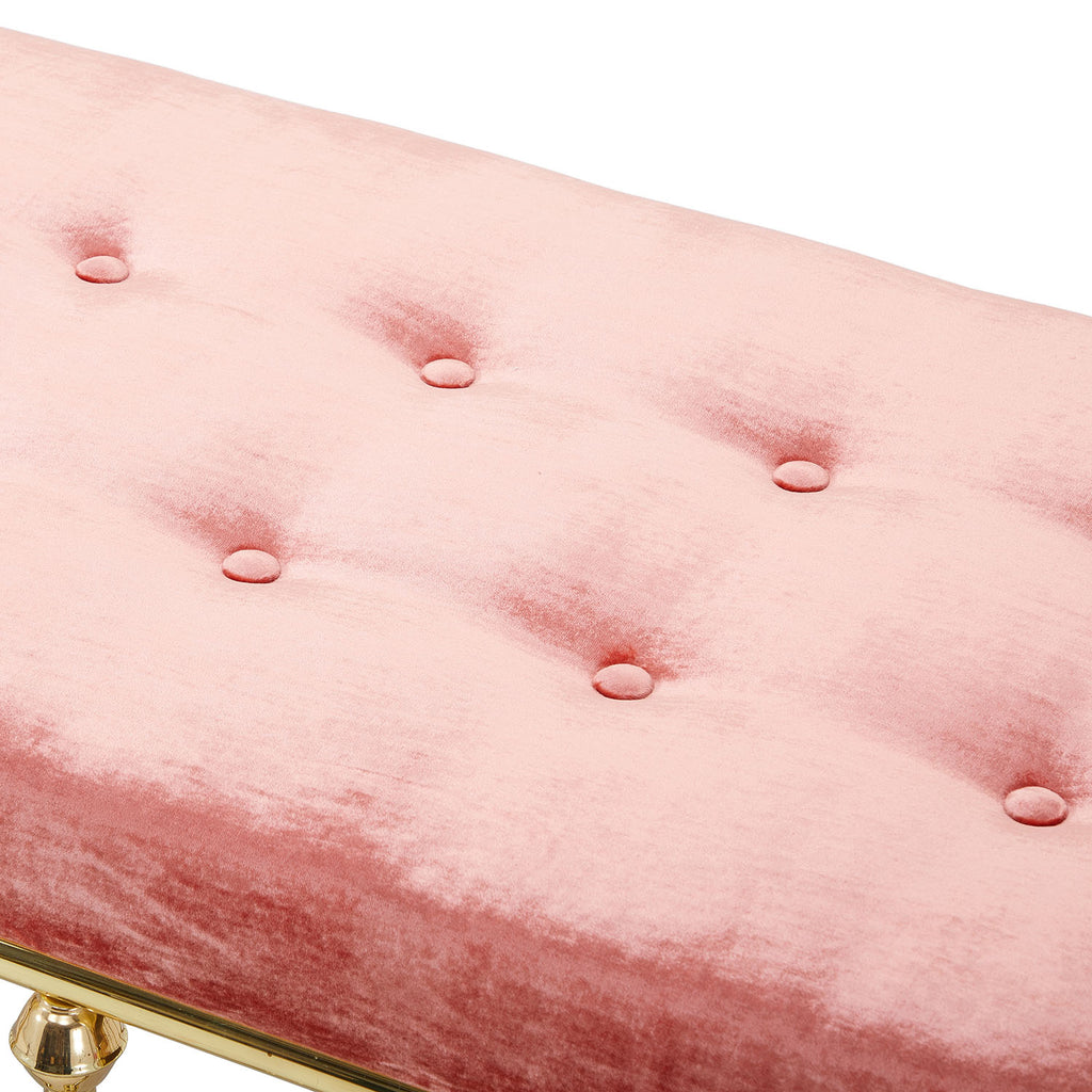 Pink and Gold Bench