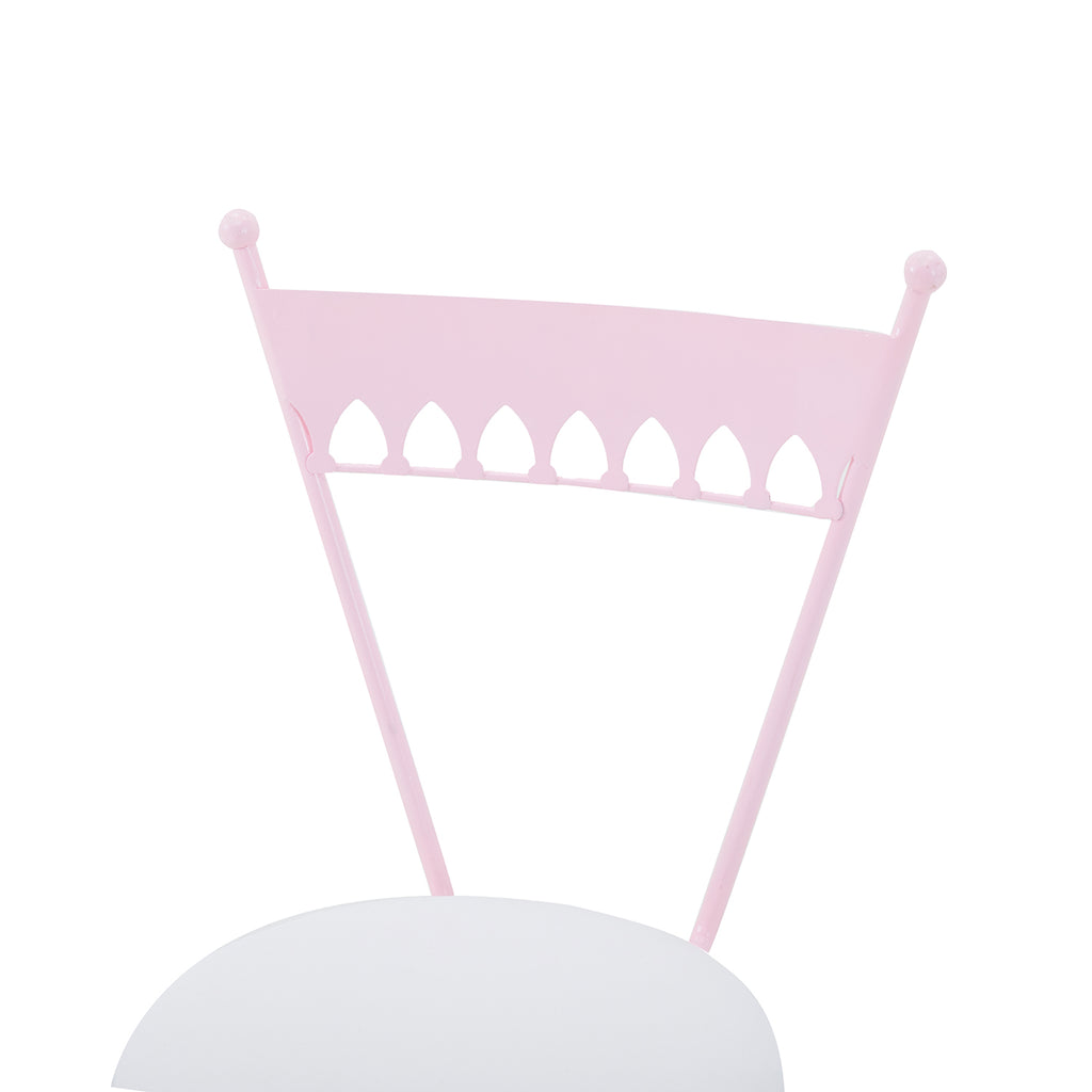 Pink Dainty Metal Cafe Chair