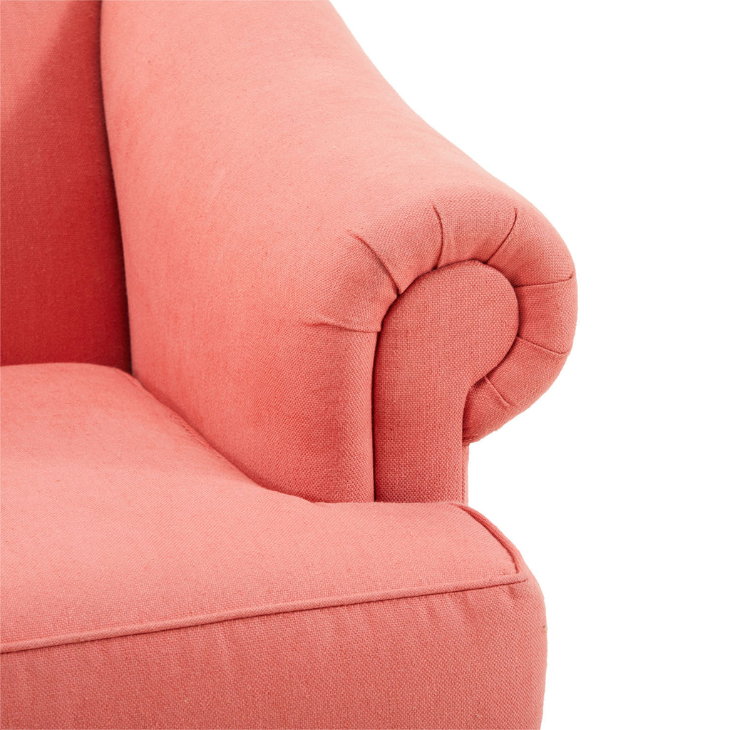 Mid-Century Two Seater Pink Sofa