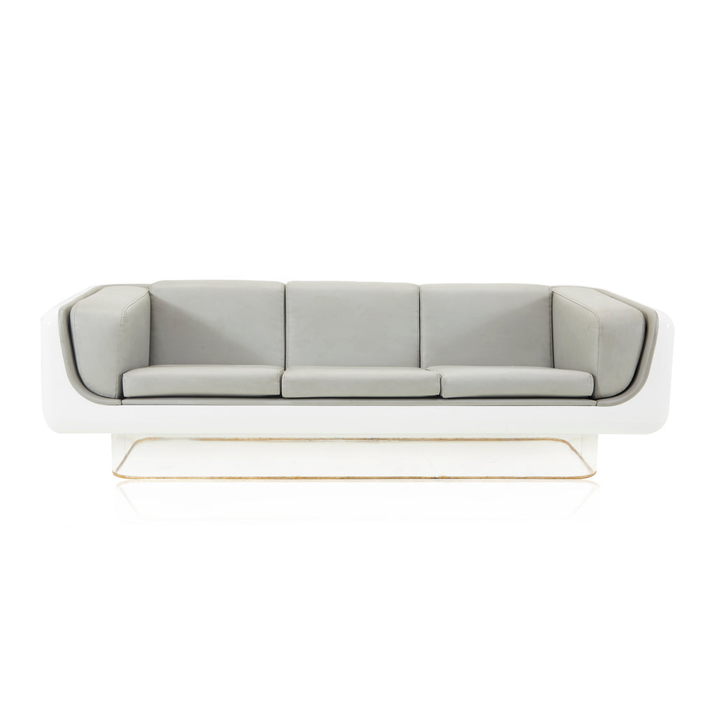 Grey and White Space Age Sofa