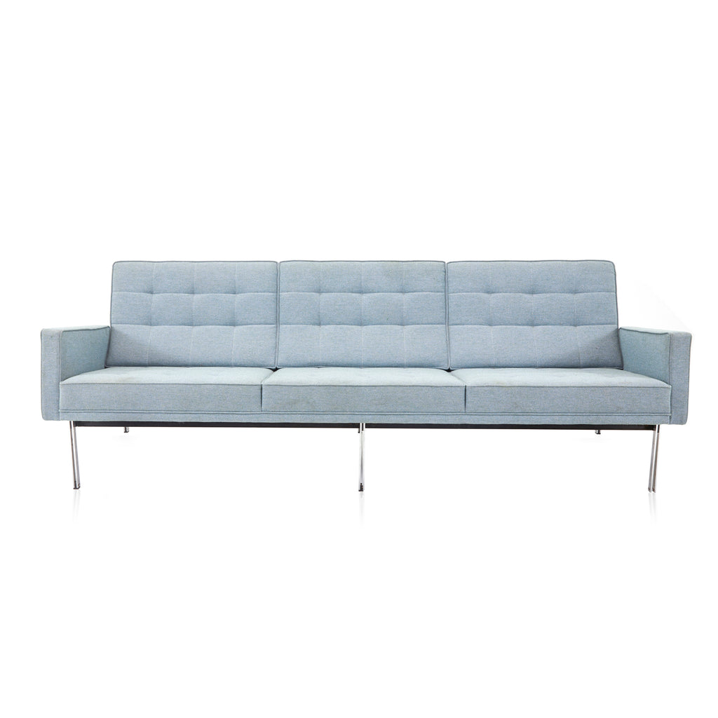 Light Blue Split Rail Couch