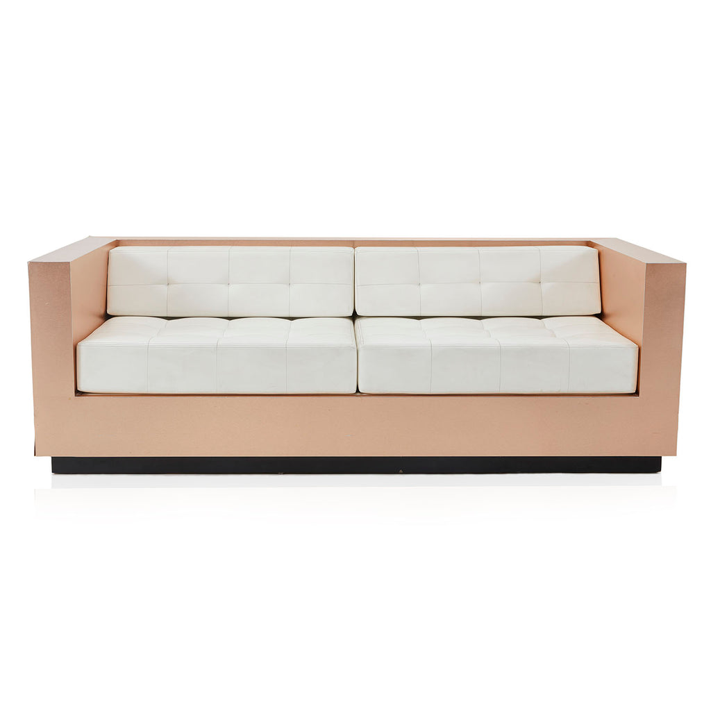 Rose Gold and White Contemporary Sofa