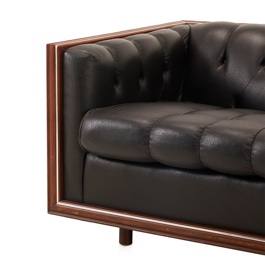 Black Leather Bubble Sofa