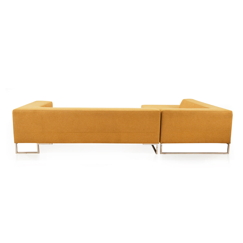 Apricot L-Shaped Modern Sectional