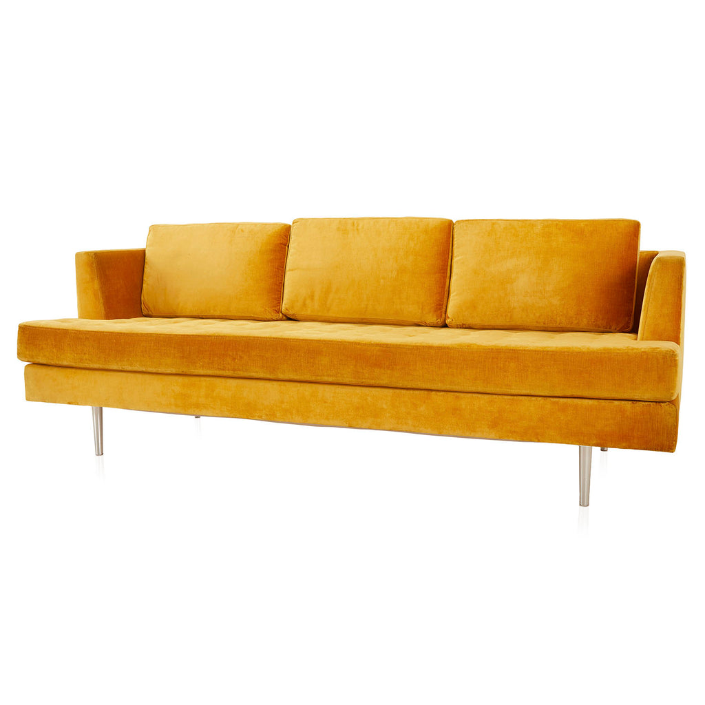810 Sofa - Yellow Velvet