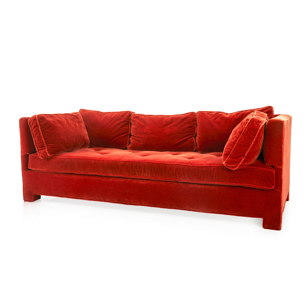 Red Tufted Couch