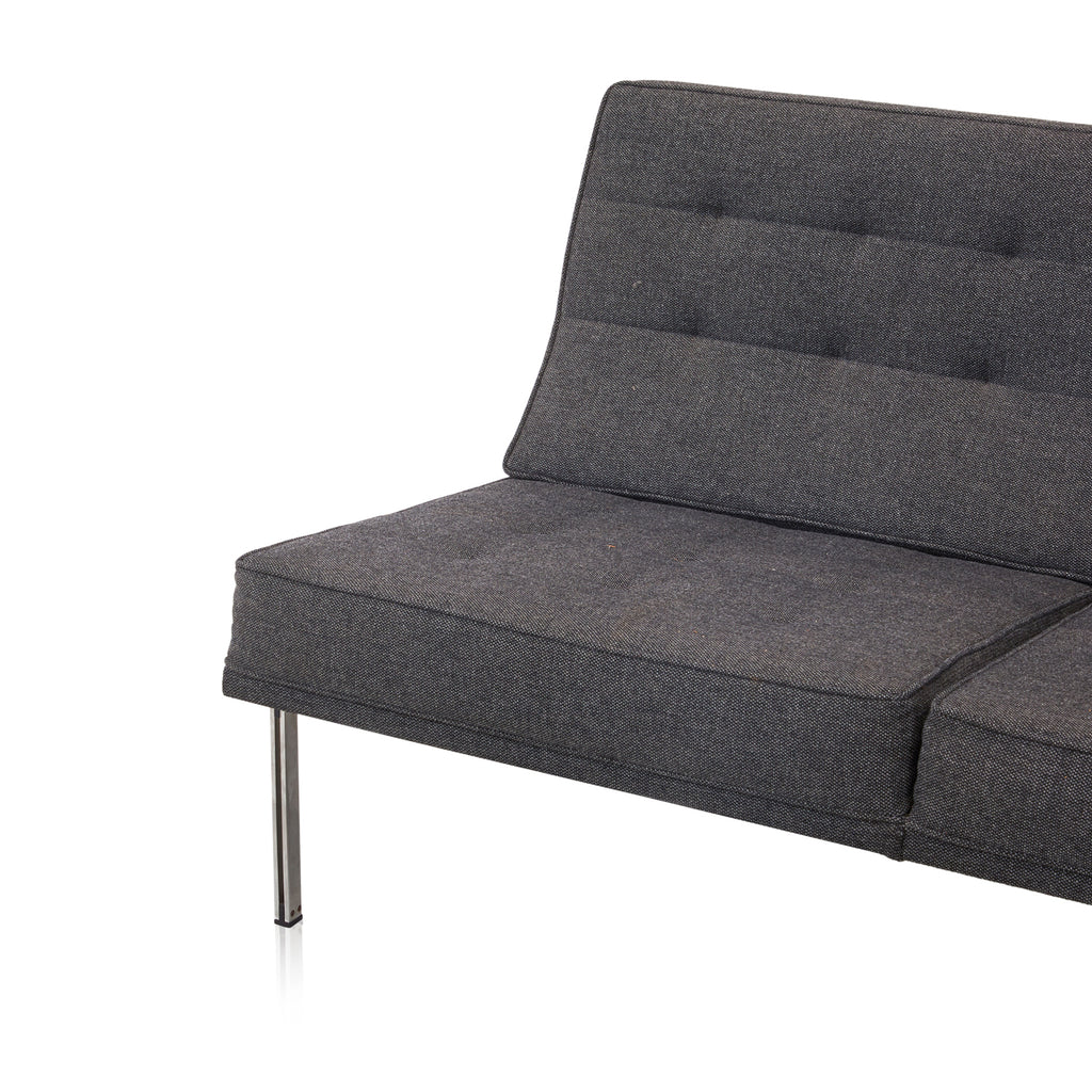 Modernica Charcoal Split Rail Arm Loveseat