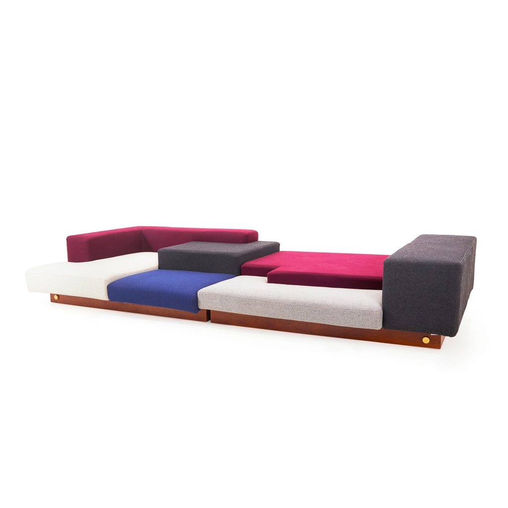 Color Block Sectional Lounge Sofa