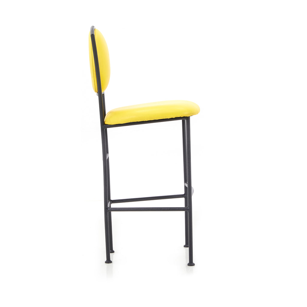 Multicolor Tall Barstool Set with Black Frame