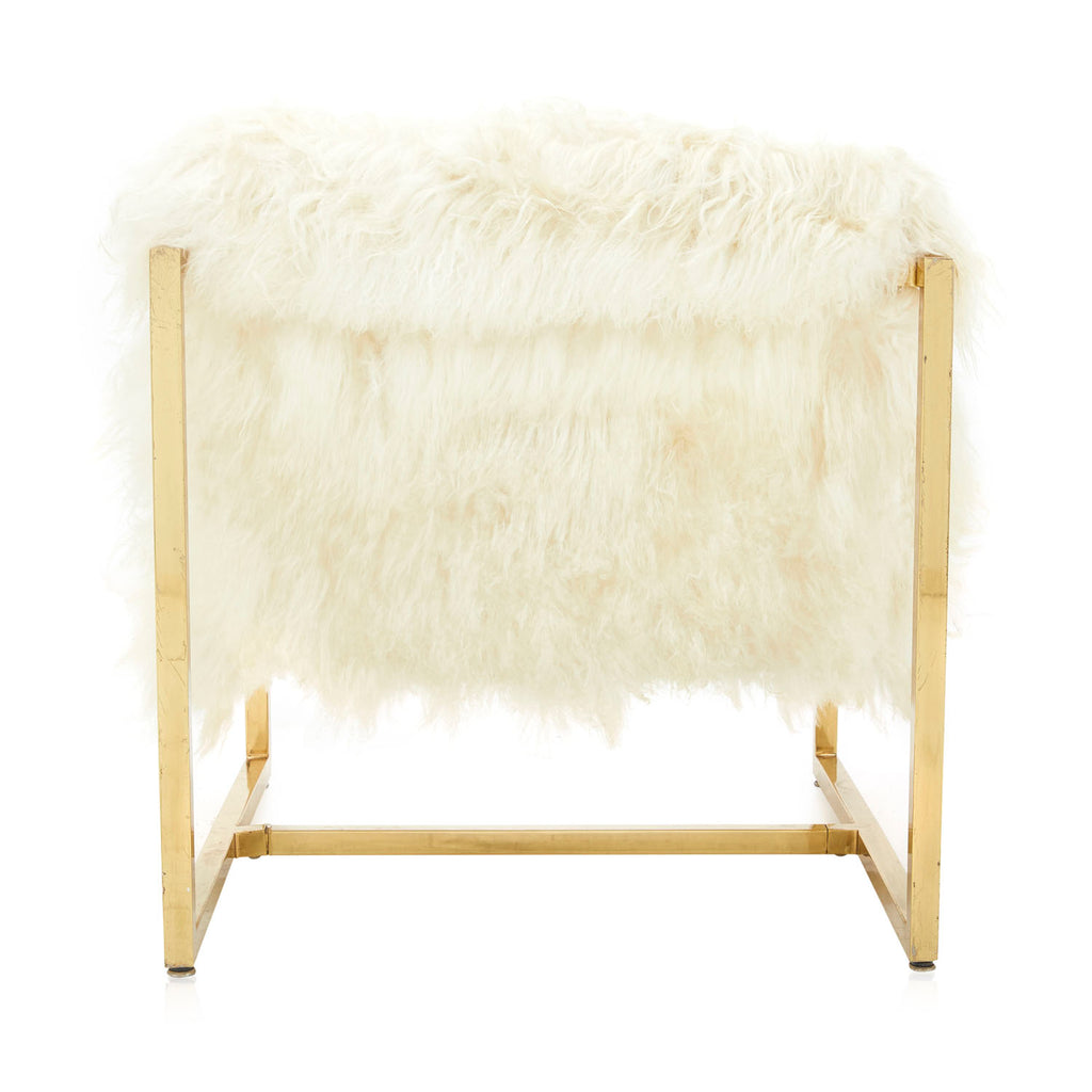 White Faux Fur Arm Chair