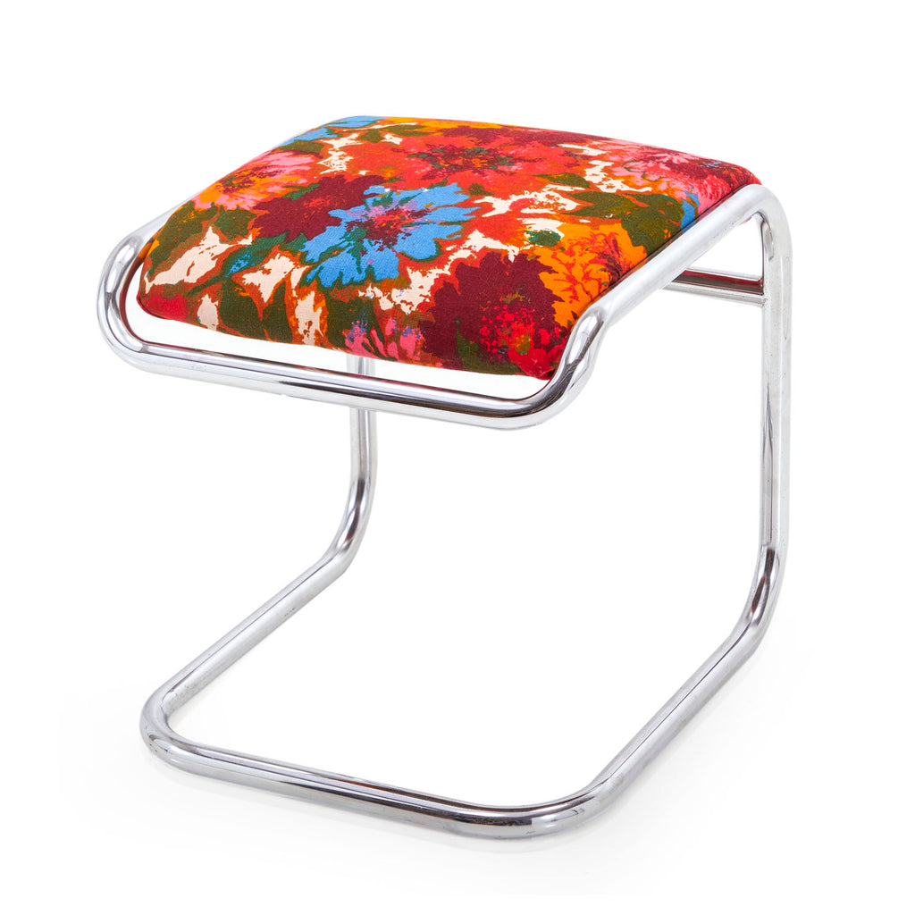 Multicolor Floral Low Stool