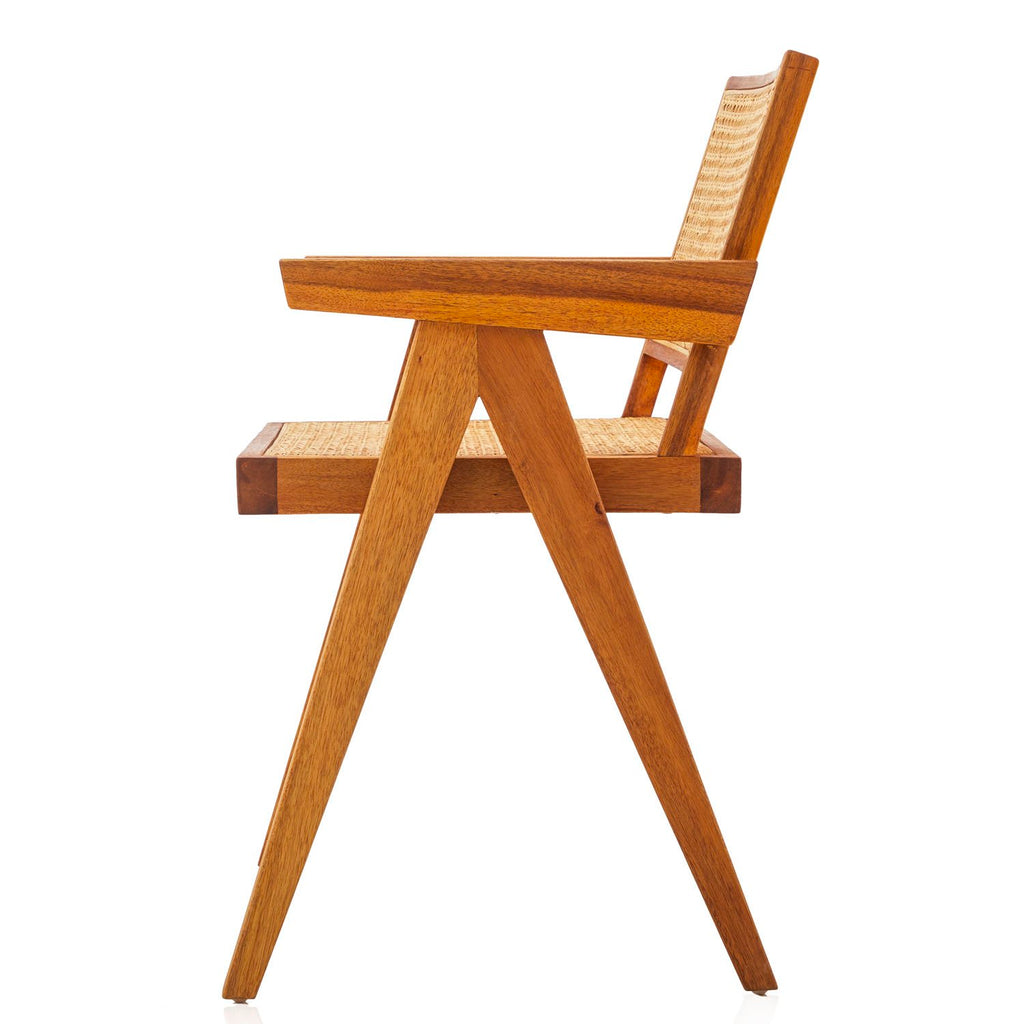 Jeanneret Wood Dining Arm Chair