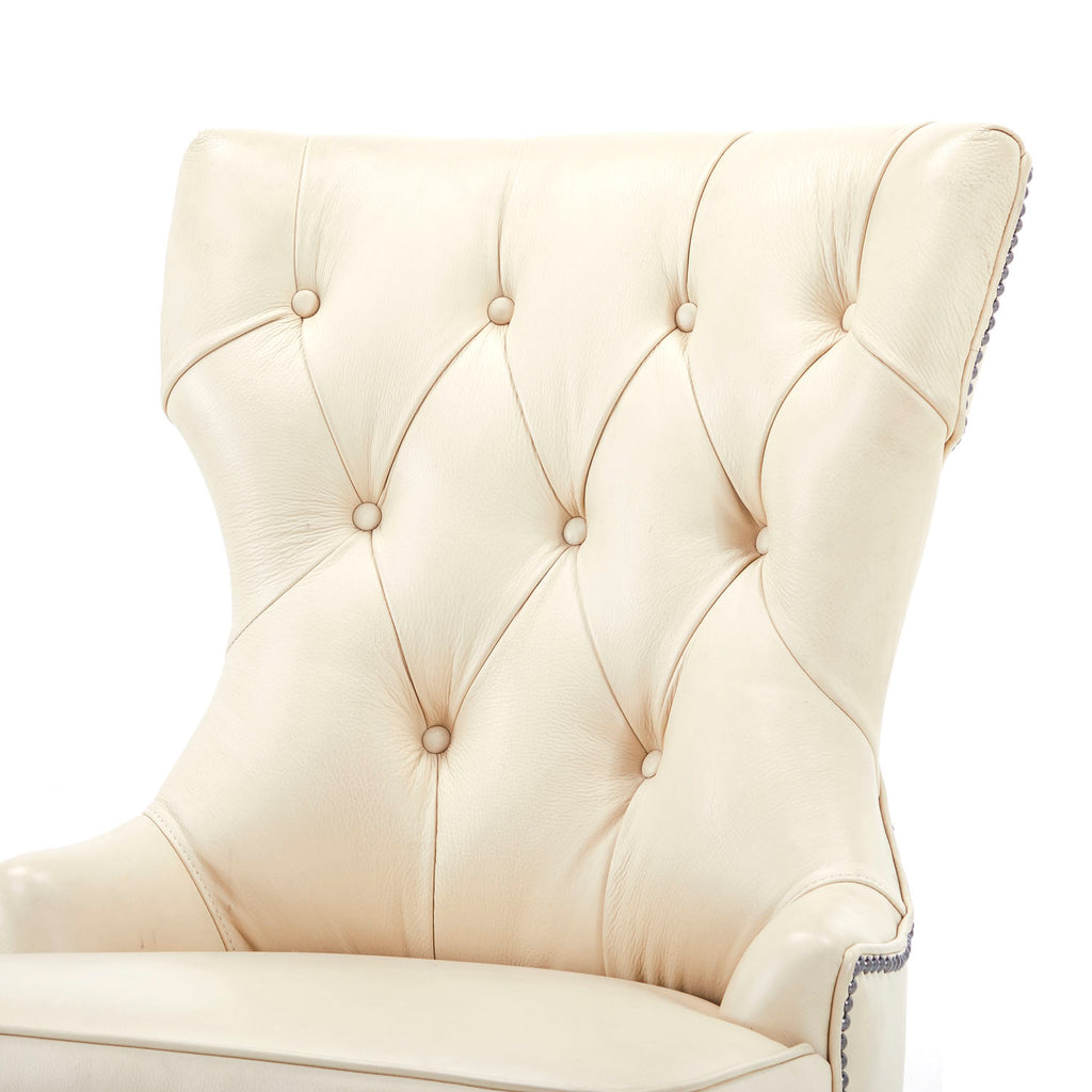 White Tufted Executive Chair