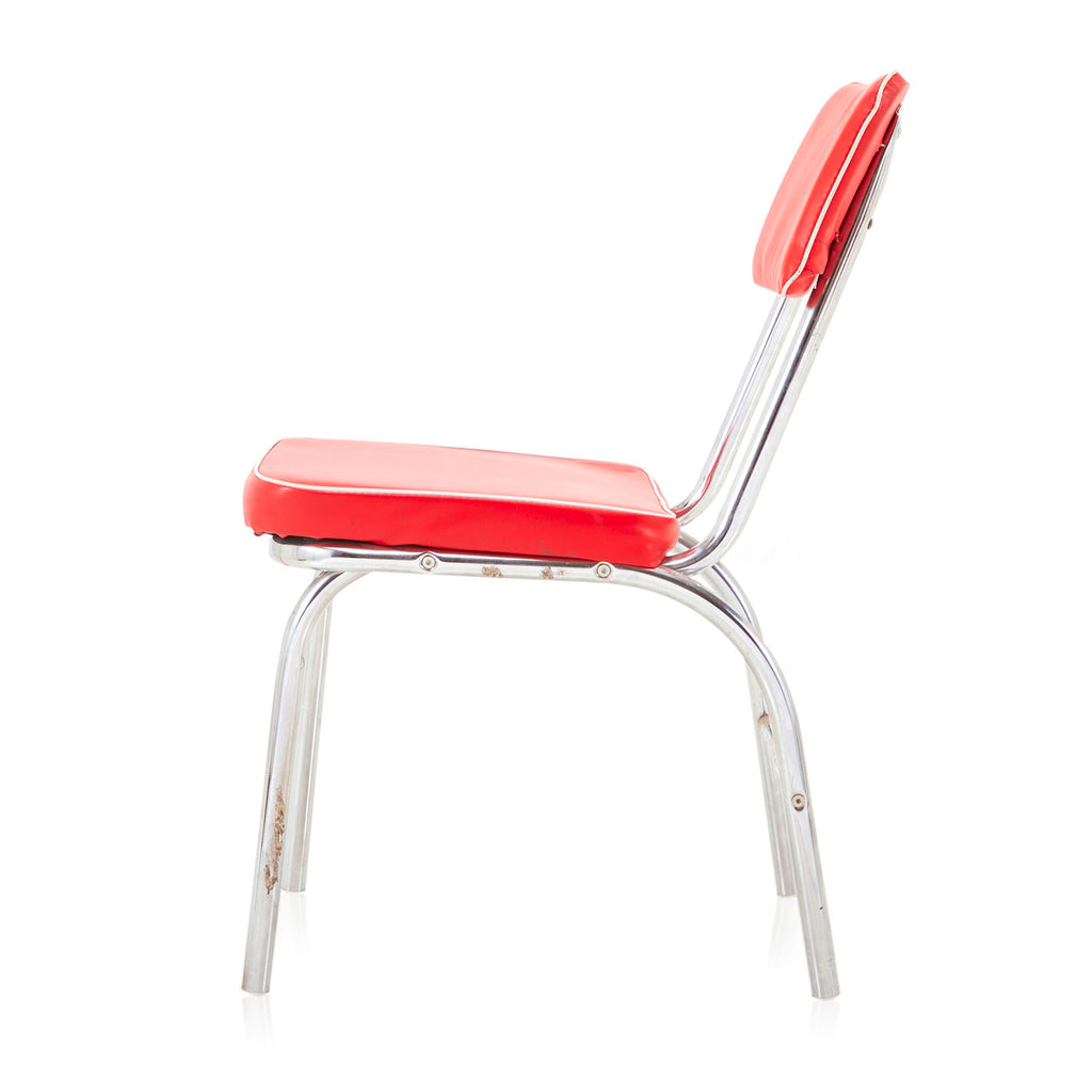 Red Vinyl Dining Chair