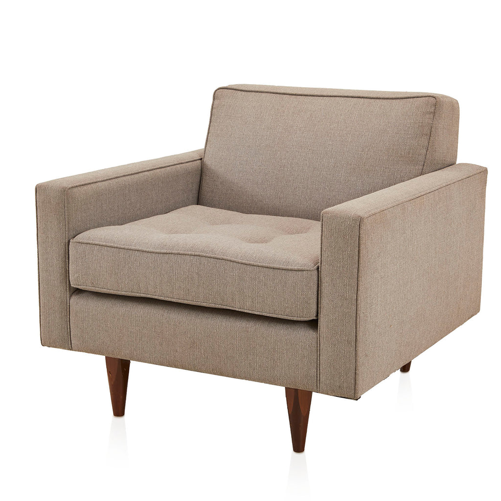 Linen Contemporary Armchair