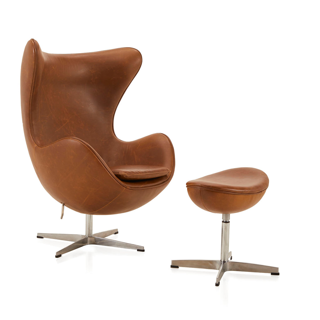 Brown Leather Egg Chair