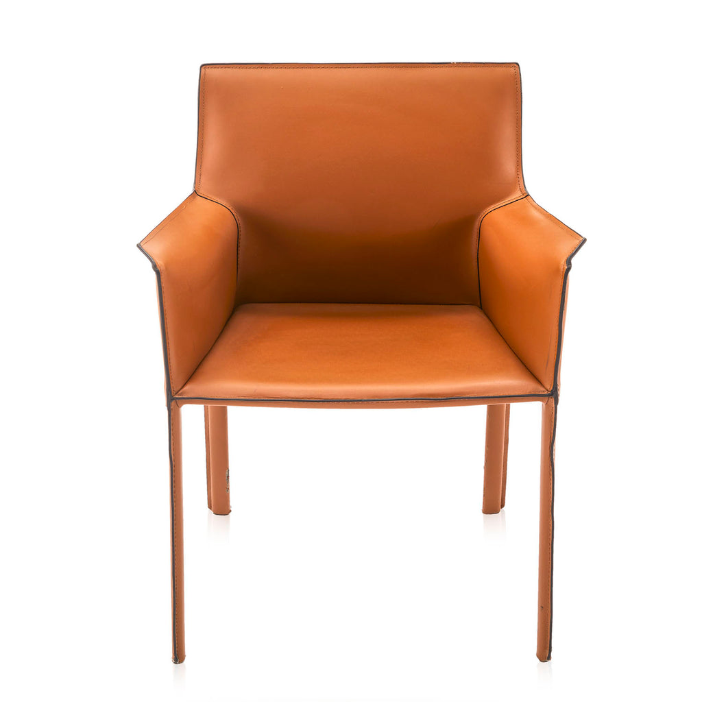 Bellini Style Saddle Leather Arm Chair