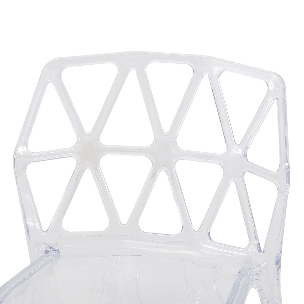 Clear Geometric Side Chair