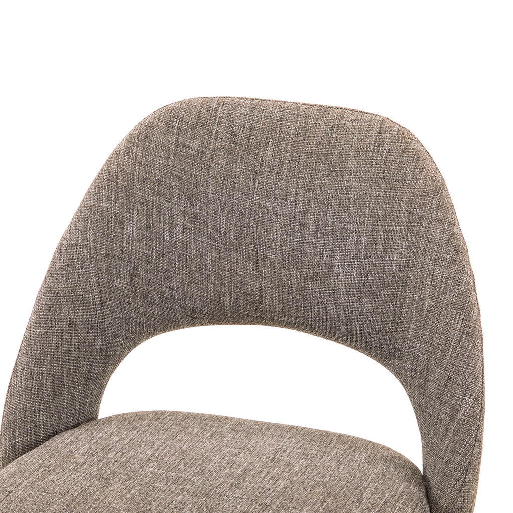 Light Grey Upholstered Knoll Style Side Chair