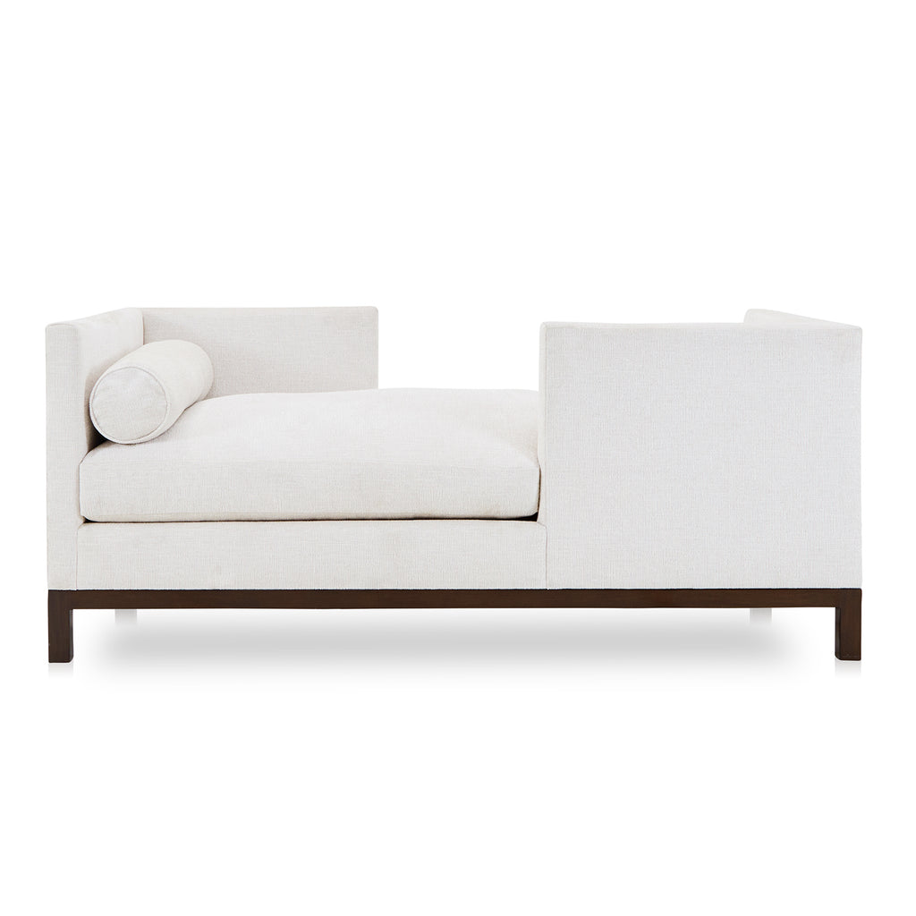 Cream Textured Fabric Double-Sided Sofa