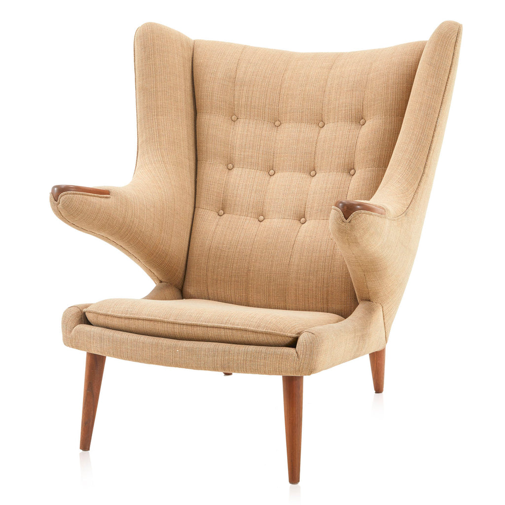 Papa Bear Wingback Lounge Chair - Tan