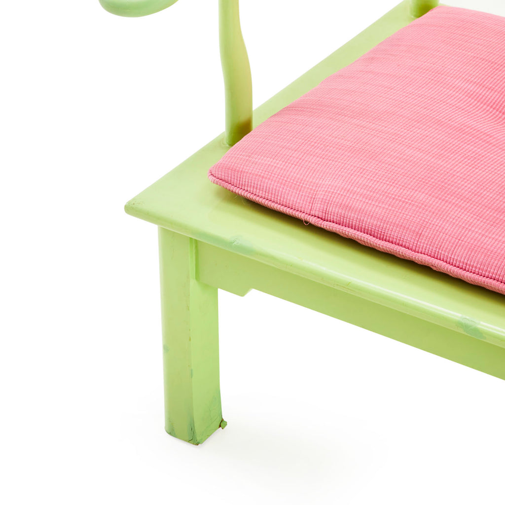 Green Wooden Lounge Chair