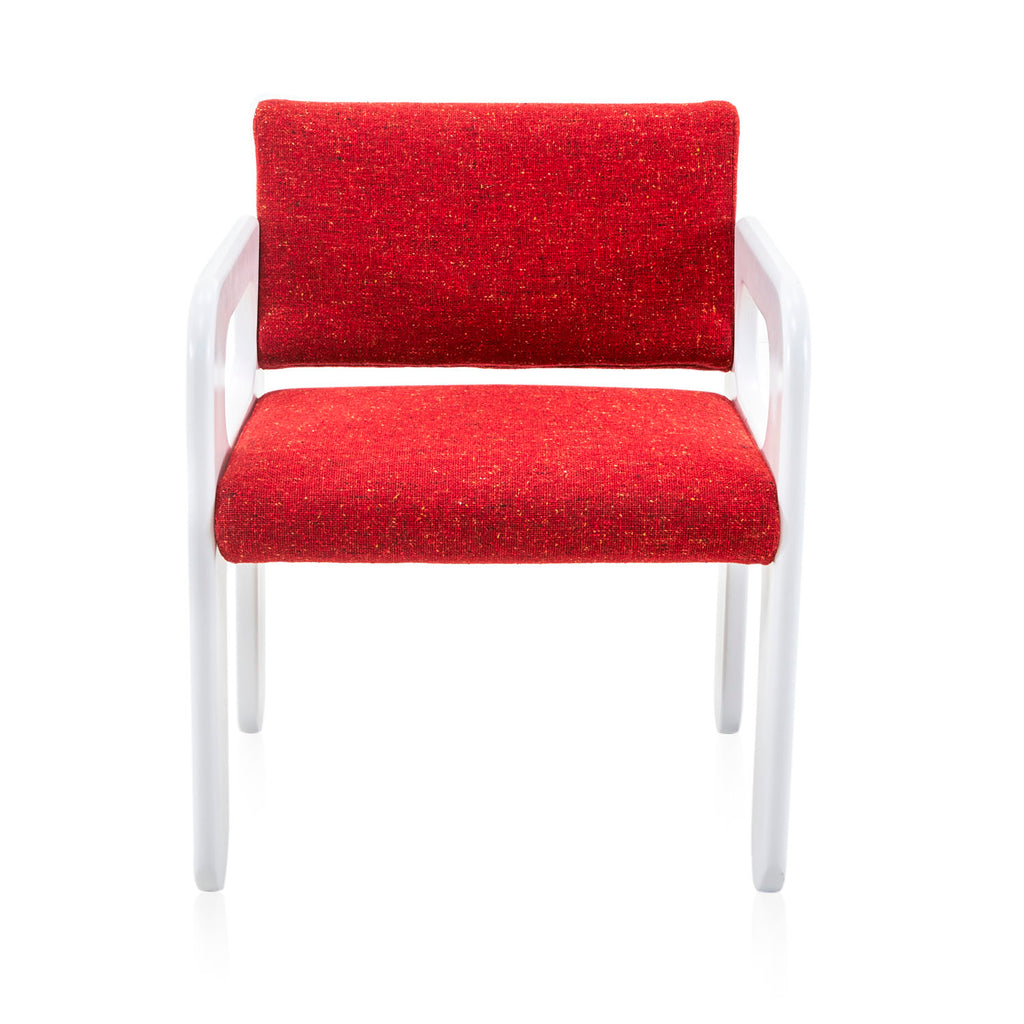 Formica Armchair with Red Cushions