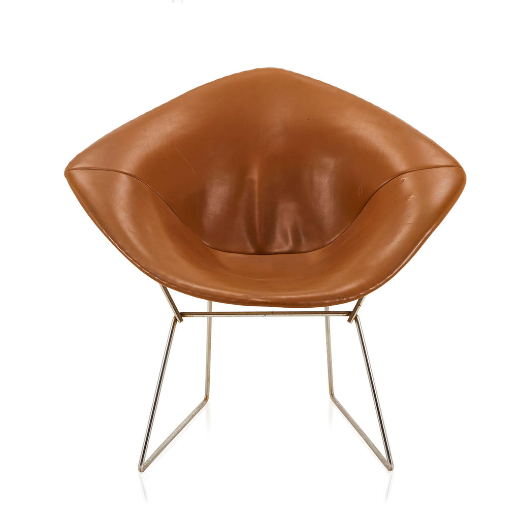 Bertoia Diamond Chair with Leather Slip