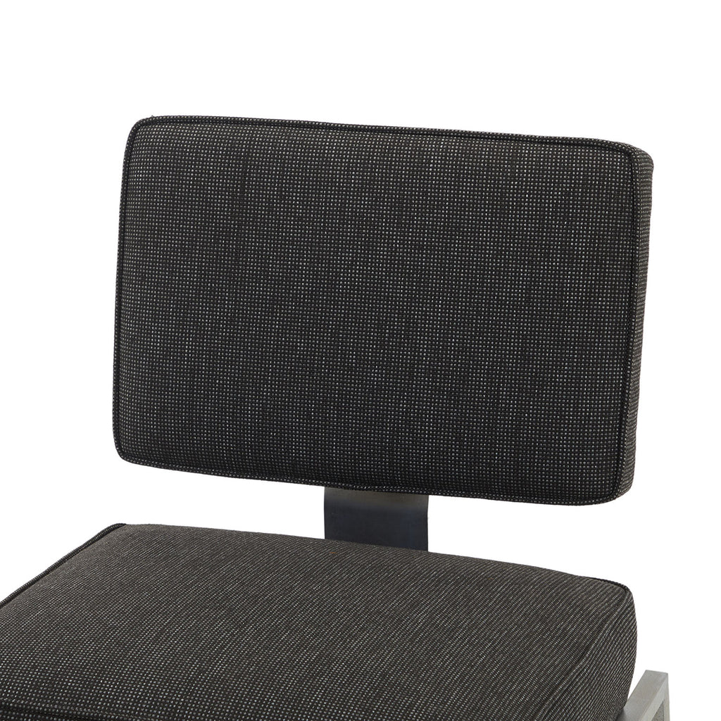 Charcoal Fabric Square Office Side Chair
