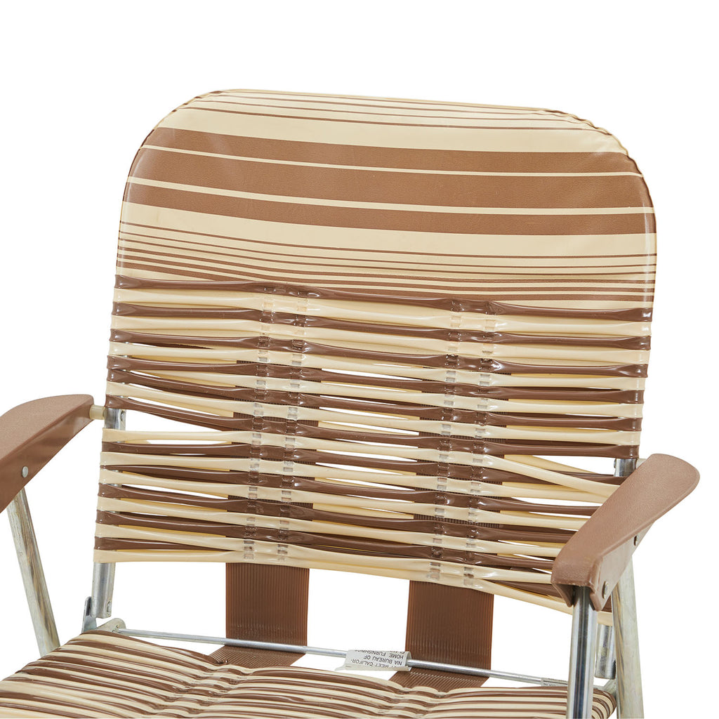Brown and Tan Vintage Folding Chair