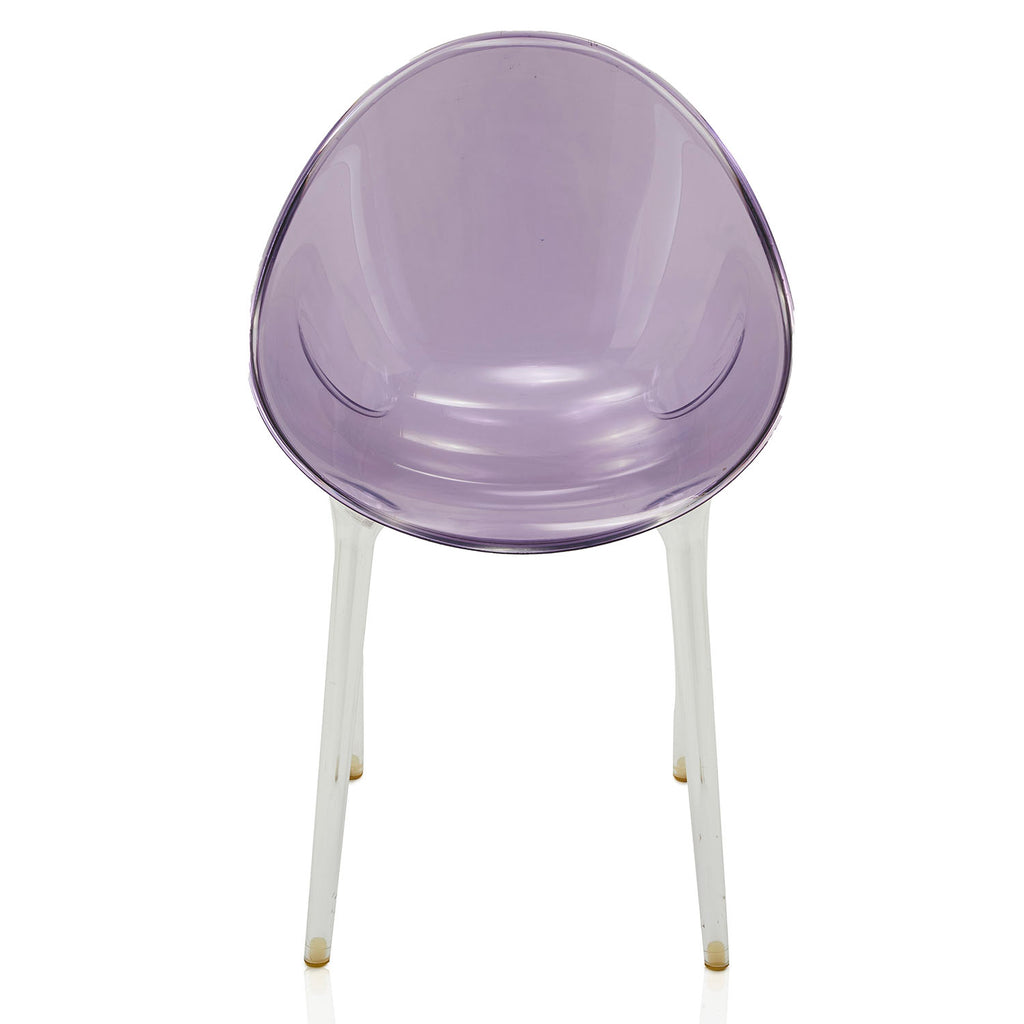 Round Purple Lucite Dining Chair