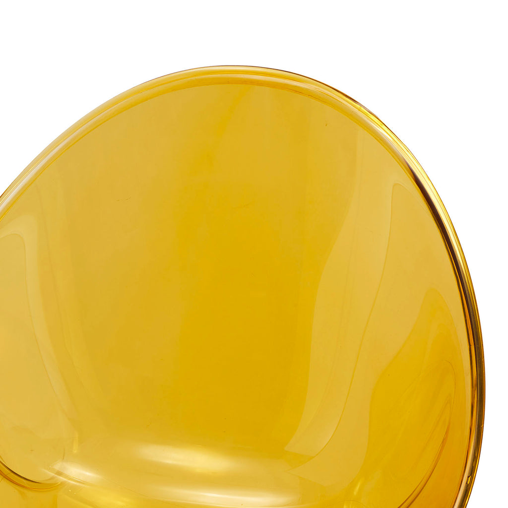 Round Yellow Lucite Dining Chair