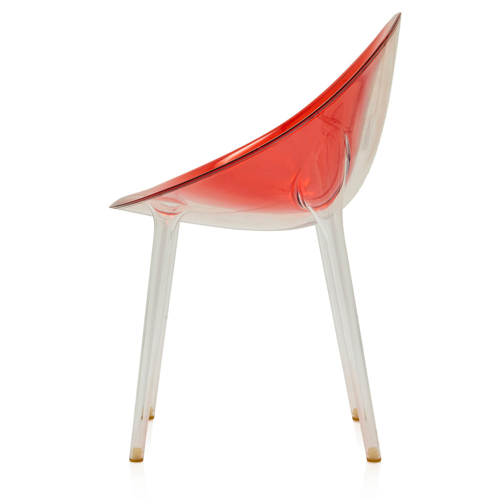 Round Red Lucite Dining Chair