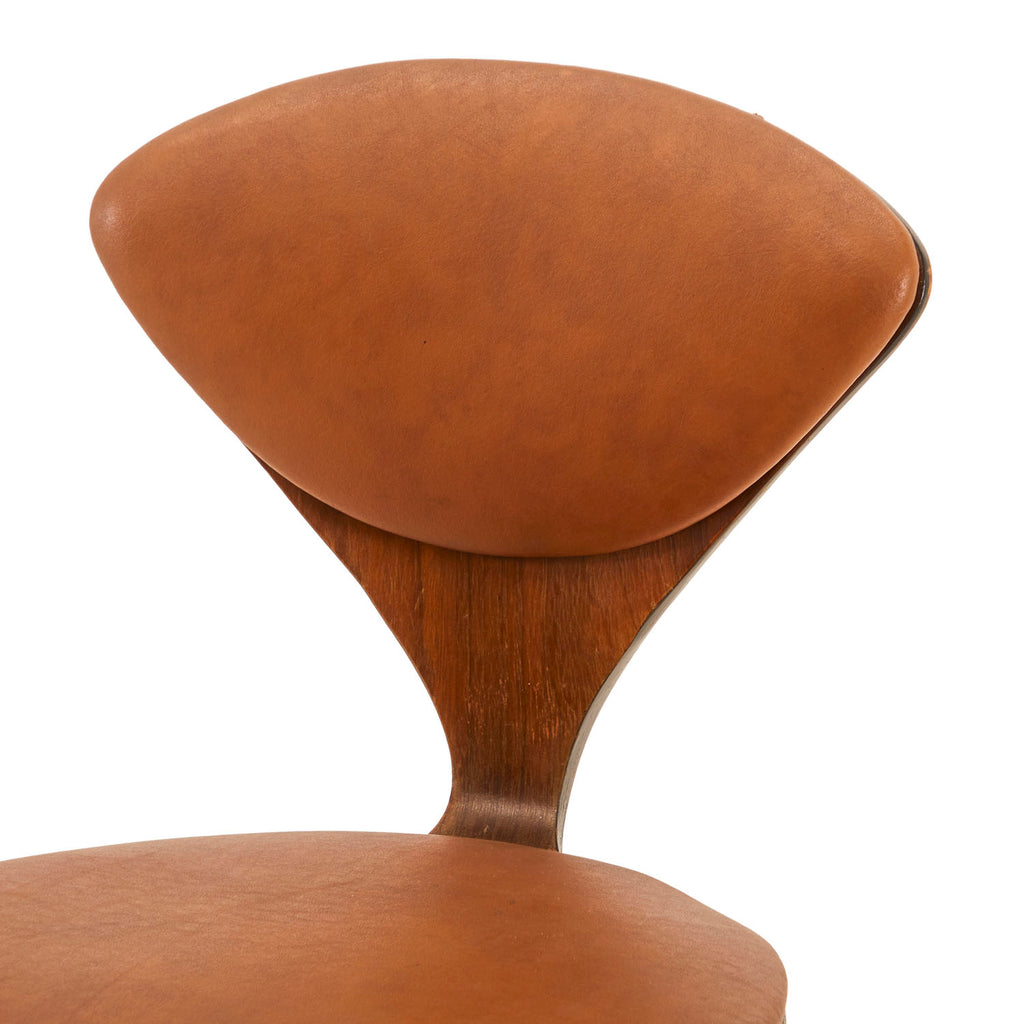 Wood Side Chair with Leather Cushions