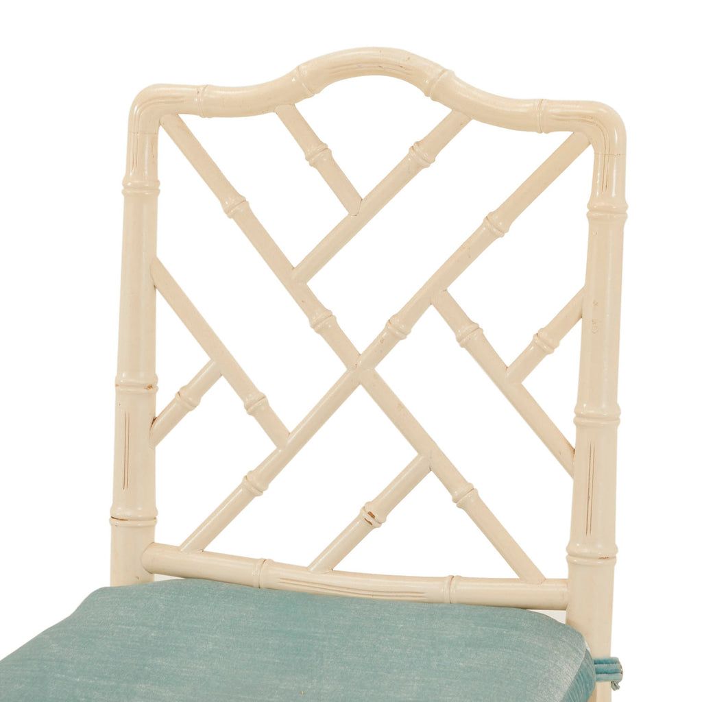 White Bamboo Side Chair